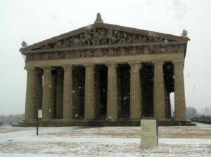 parthenon-during-winter